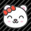 arctic, avatar, bear, cute, face, polar icon