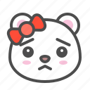 arctic, avatar, bear, cute, face, polar, worried
