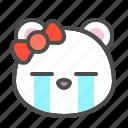 arctic, avatar, bear, cry, cute, face, polar
