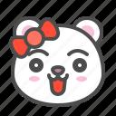 arctic, avatar, bear, cute, face, polar, smile