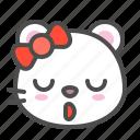 arctic, avatar, bear, cute, face, polar, sleepy