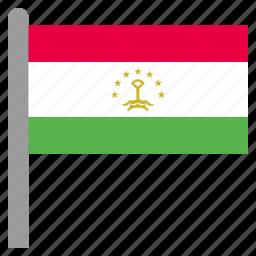 asia, asian, tajikistan, tajikistani, tjk icon