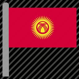 asia, asian, kgz, kyrgyzstan, kyrgyzstani icon