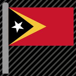 east, leste, timor, tls icon