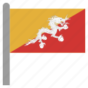 asia, asian, bhutan, bhutanese, btn, ngultrum icon