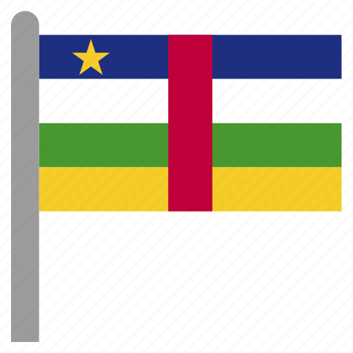 africa, african, caf, central, republic icon
