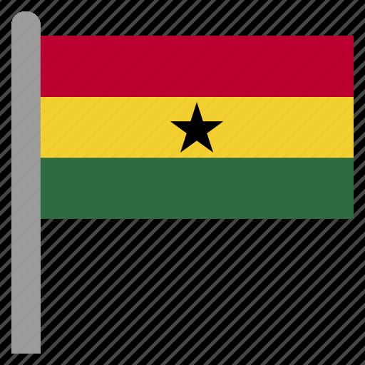 flag, gha, ghana, ghanaian icon