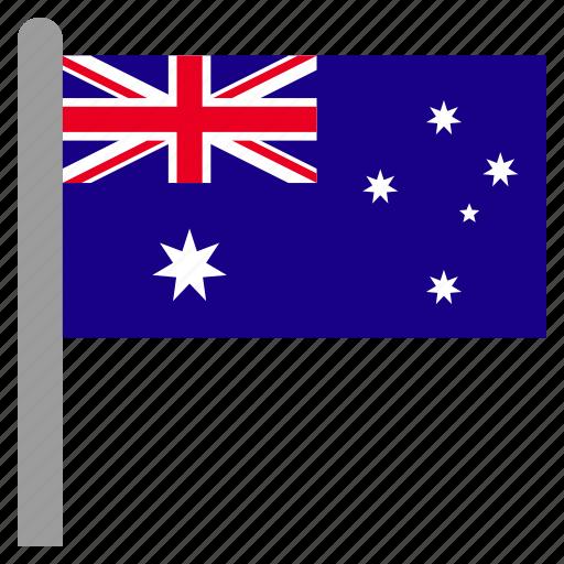 aus, australia, australian, cross, jack, kangaroo, union icon