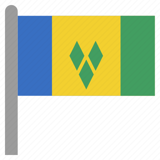 and, caribbean, grenadines, saint, the, vct, vincent icon