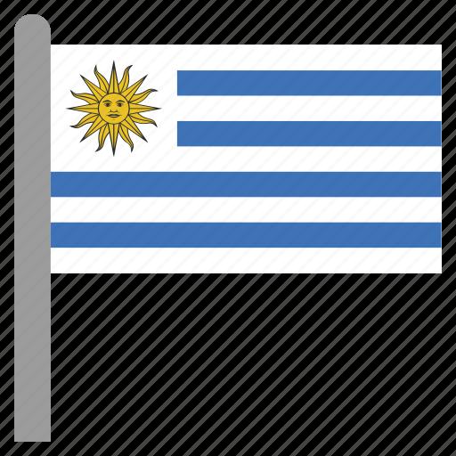 america, south, uruguay, ury icon