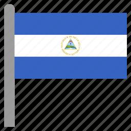 america, central, nic, nicaragua, nicaraguan icon