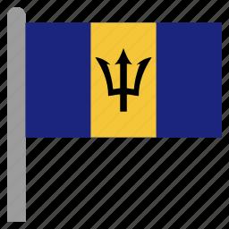 barbadian, barbados, brb, caribbean icon