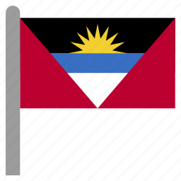 and, antigua, atg, barbuda, caribbean icon