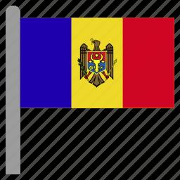 europe, mda, moldova, moldovan icon