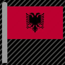 alb, albania, albanian, lek, tirana icon