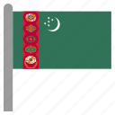 asia, asian, tkm, turkmen, turkmenistan icon
