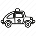 arrest, auto, automobile, background, black, car, concept, cop, crime, element, emergency, icon, illustration, isolated, law, light, machine, patrol, police, protect, shadow, sheriff, sign, simple, symbol, transportation, vector, web icon