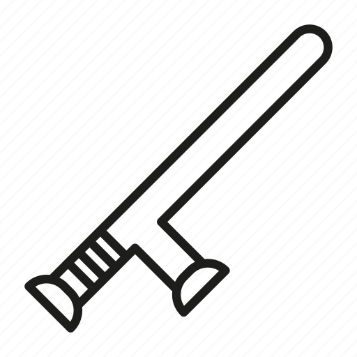 arm, arrest, baton, beat, control, cop, crime, cudgel, design, enforcement, equipment, flat, force, guard, handle, icon, illustration, impact, isolated, knobstick, law, law enforcement, nightstick, officer, plastic, police, policeman, protection, regimentals, rubber, safe, safety, secure, security, shillelagh, sign, stick, symbol, truncheon, vector, violence, weapon icon