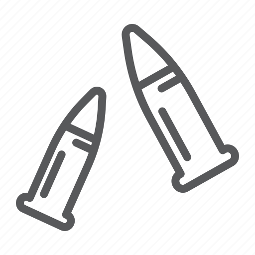 ammo, ammunition, bullet, bullets, caliber, copper, gun icon