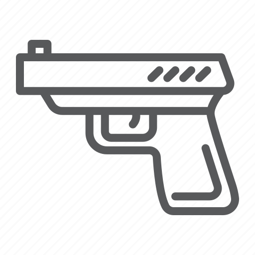 danger, firearm, gun, pistol, police, revolver, weapon icon