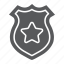 badge, detective, officer, police, policeman, sheriff, star icon