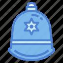 helmet, police, protection icon