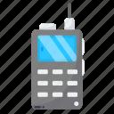 encreypted, police radio, telephone, walkie talkie icon