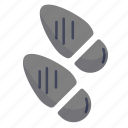 footprints, hint, shoeprints, trace icon