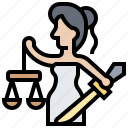 law, themis, justice, goddess, righteousness icon