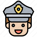 cap, officer, outfit, police, uniform