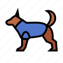 cop, dog, enforcement, justice, law, police icon
