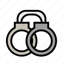 cop, enforcement, handcuffs, justice, law, police icon