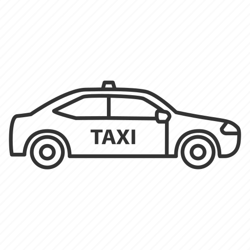 auto, automobile, cab, car, taxi, transport, vehicle icon
