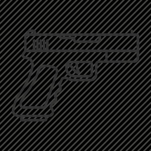 firearm, gun, handgun, pistol, shooter, tactical, weapon icon