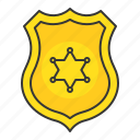 badge, emblem, police, policeman icon