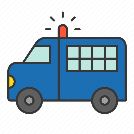 car, police, police car, policeman, prisoner transport vehicle, vehicle icon