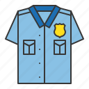 police, police officer shirt, police top, policeman, shirt icon