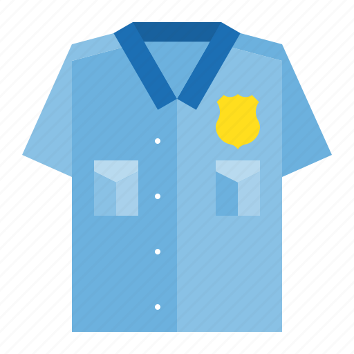 police, police officer shirt, police top, shirt icon
