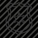 badge, emblem, officer, police, police badge