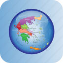 countries, country, europa, europe, greece, map, maps icon