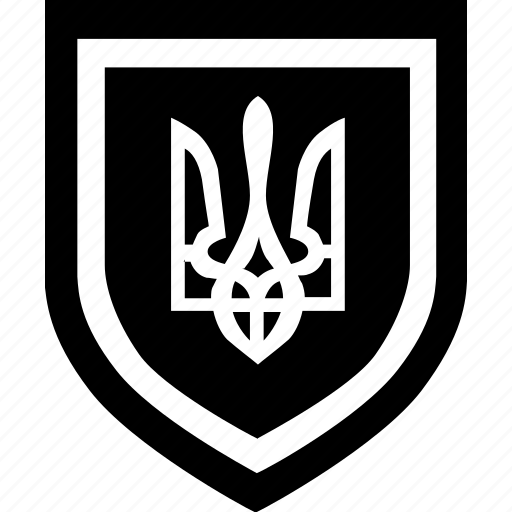 national, shield, sign, ukraine icon