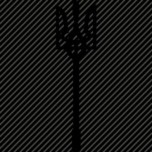 devil, fork, hell, pitchfork, ukraine icon