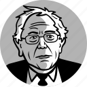 avatar, bernie sanders, candidate, congress, democrat, man, politician, politics, portrait, progressive, senator, socialist icon