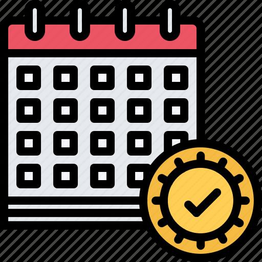 calendar, check, day, election, politics, vote, voting icon