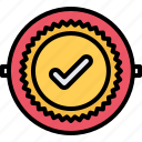 badge, check, politics, vote, voter, voting icon