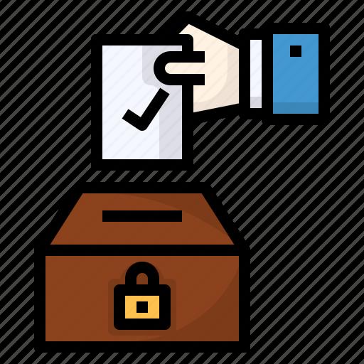 elections, politics, poll, social, vote icon