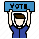 avatar, campaing, candidate, election, protest, vote icon