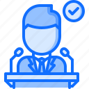 candidate, politician, politics, pulpit, speech, vote, voting icon
