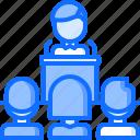 politician, politics, pulpit, speech, vote, voter, voting icon