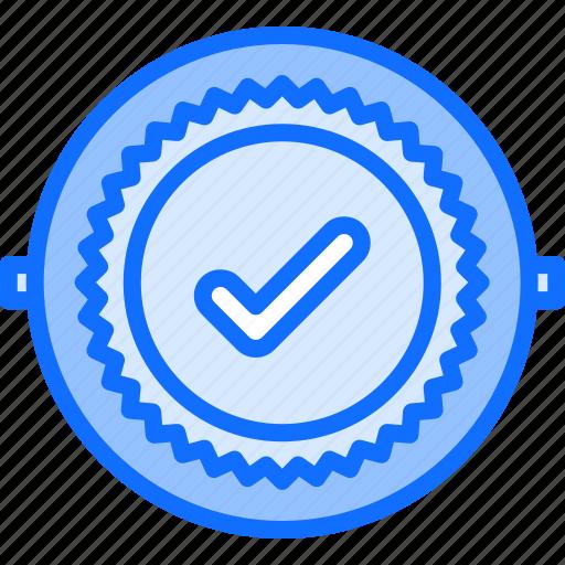 badge, check, politics, vote, voter, voting icon